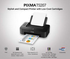 Canon Pixma TS207 Single Function Inkjet Printer Best Printers Under 5000